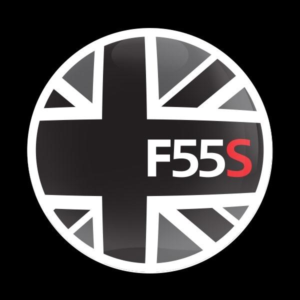 ゴーバッジ(ドーム)(CD0923 - FLAG BLACKJACK F55S) - 画像1