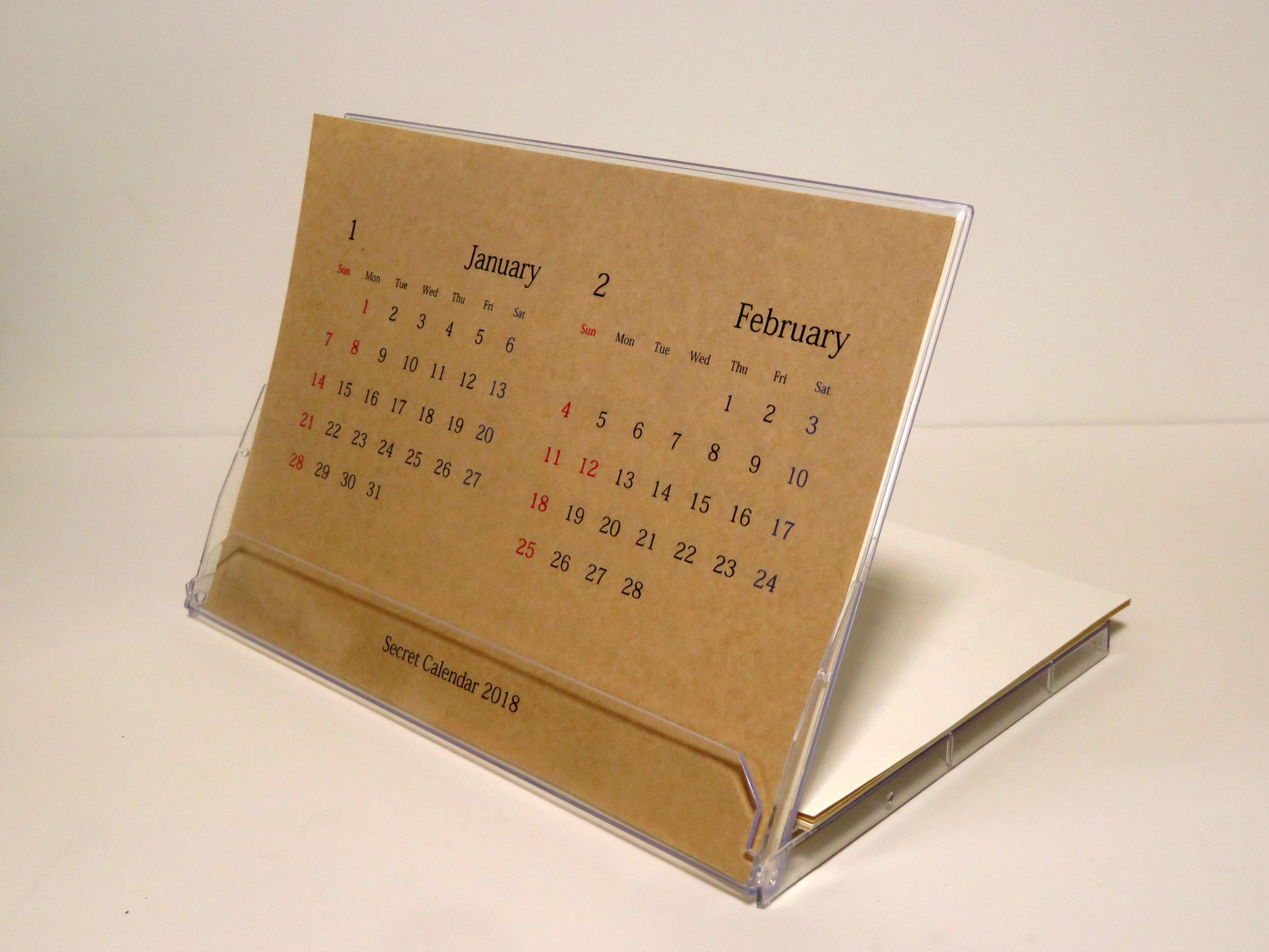 「Secret Calendar 2018」