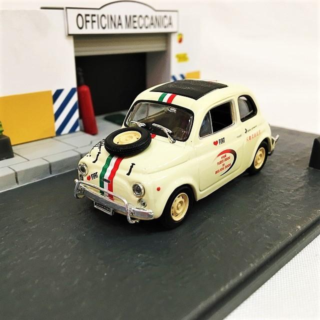 FIAT500L Viaggio speciale Diorama 1/43【CANENCO】【1セットのみ】【税込価格】