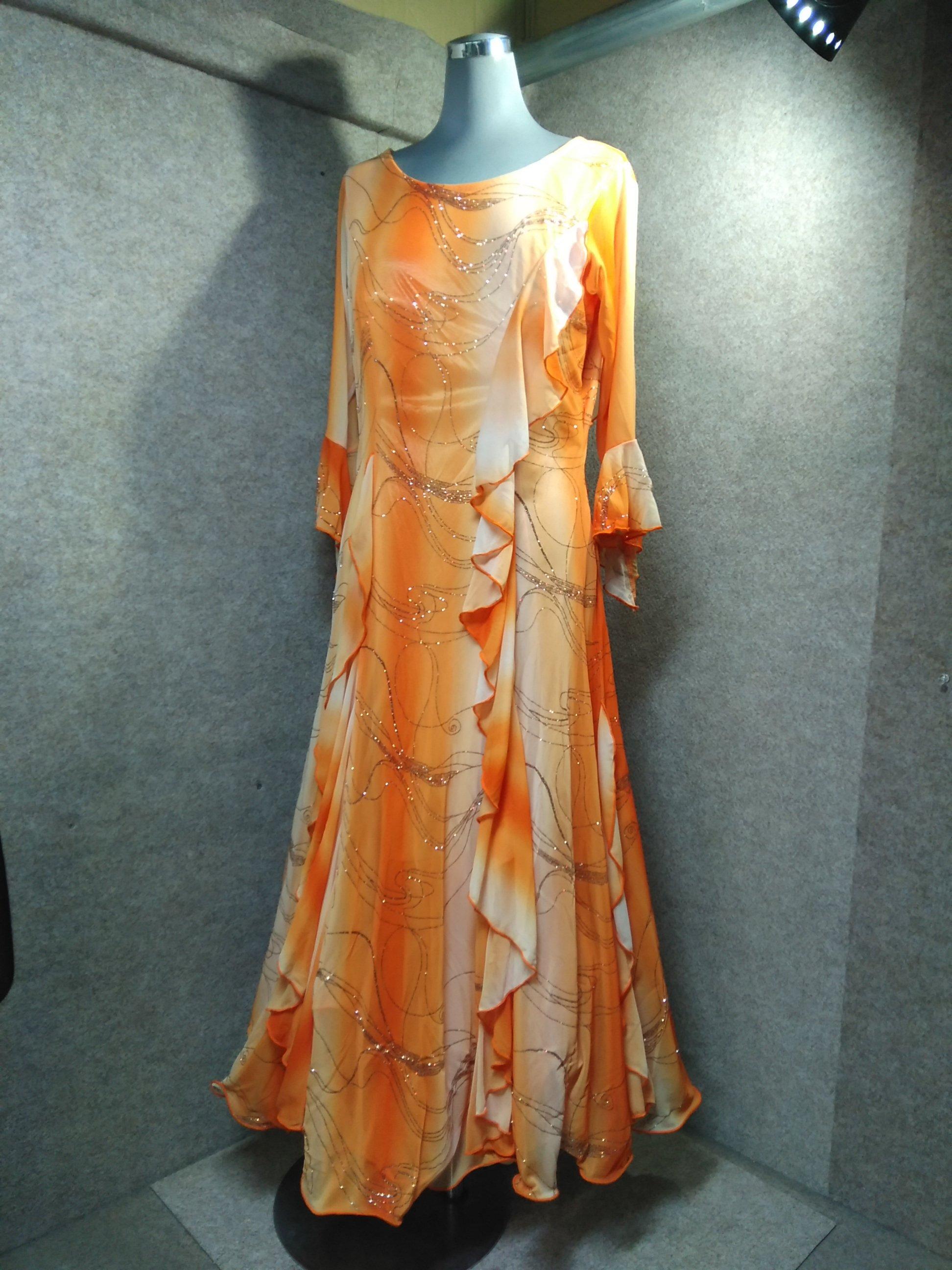 ドレス ダンス オレンジ ラメ入り mh336s