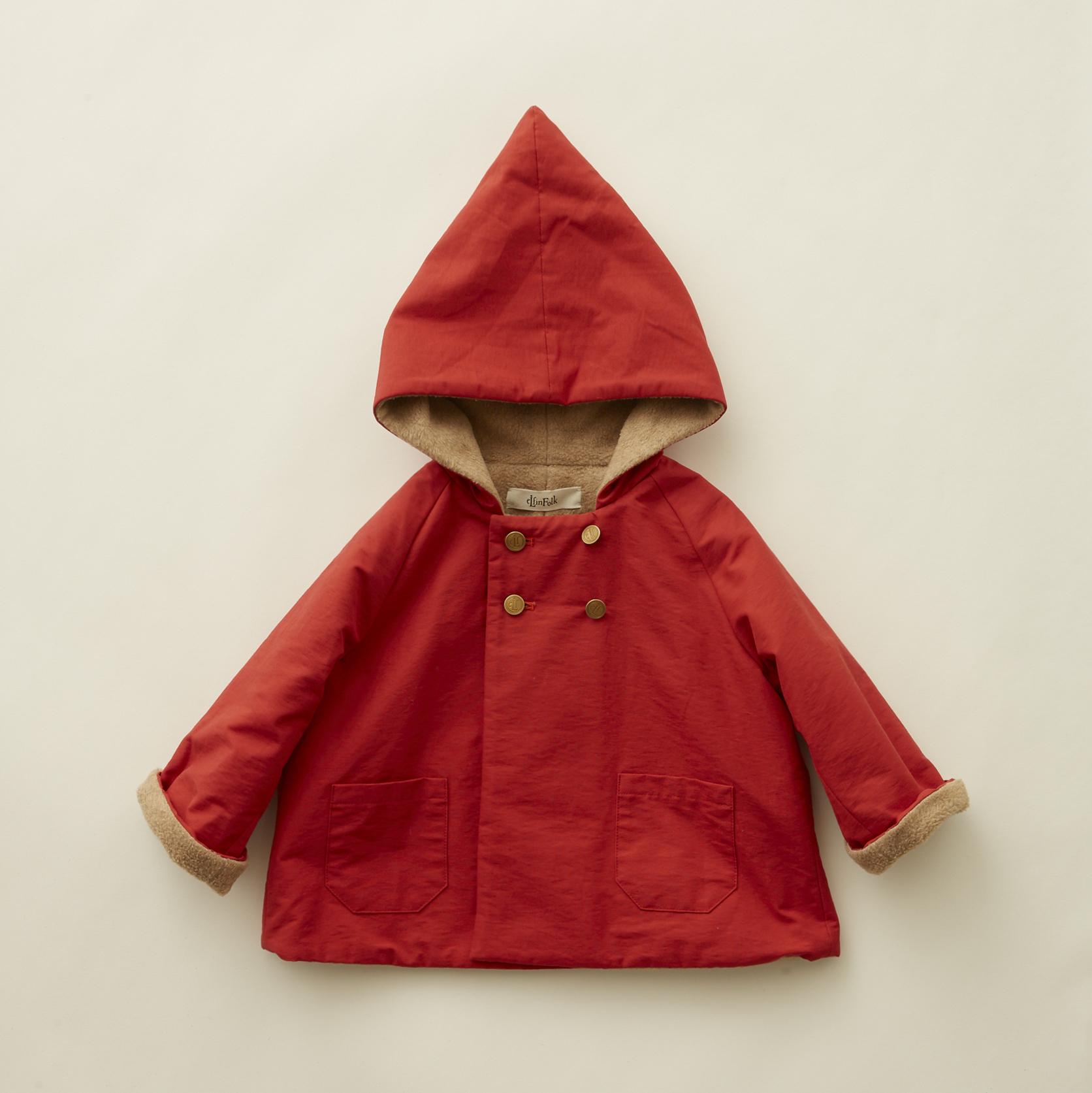 《eLfinFolk 2020AW》elf coat / red / 110-130cm