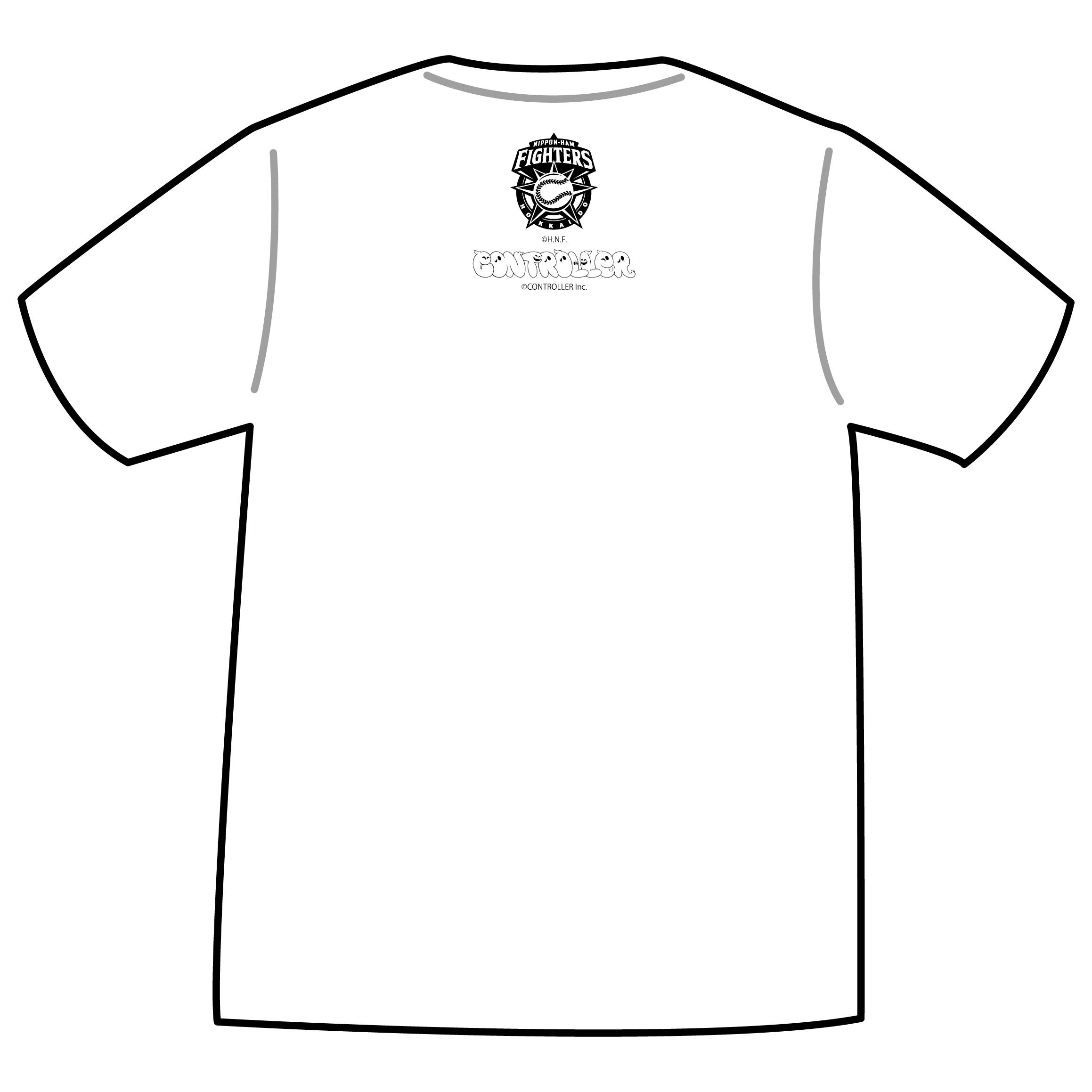ドットファイターズ 「にしかわ」 Tシャツ ホワイト
