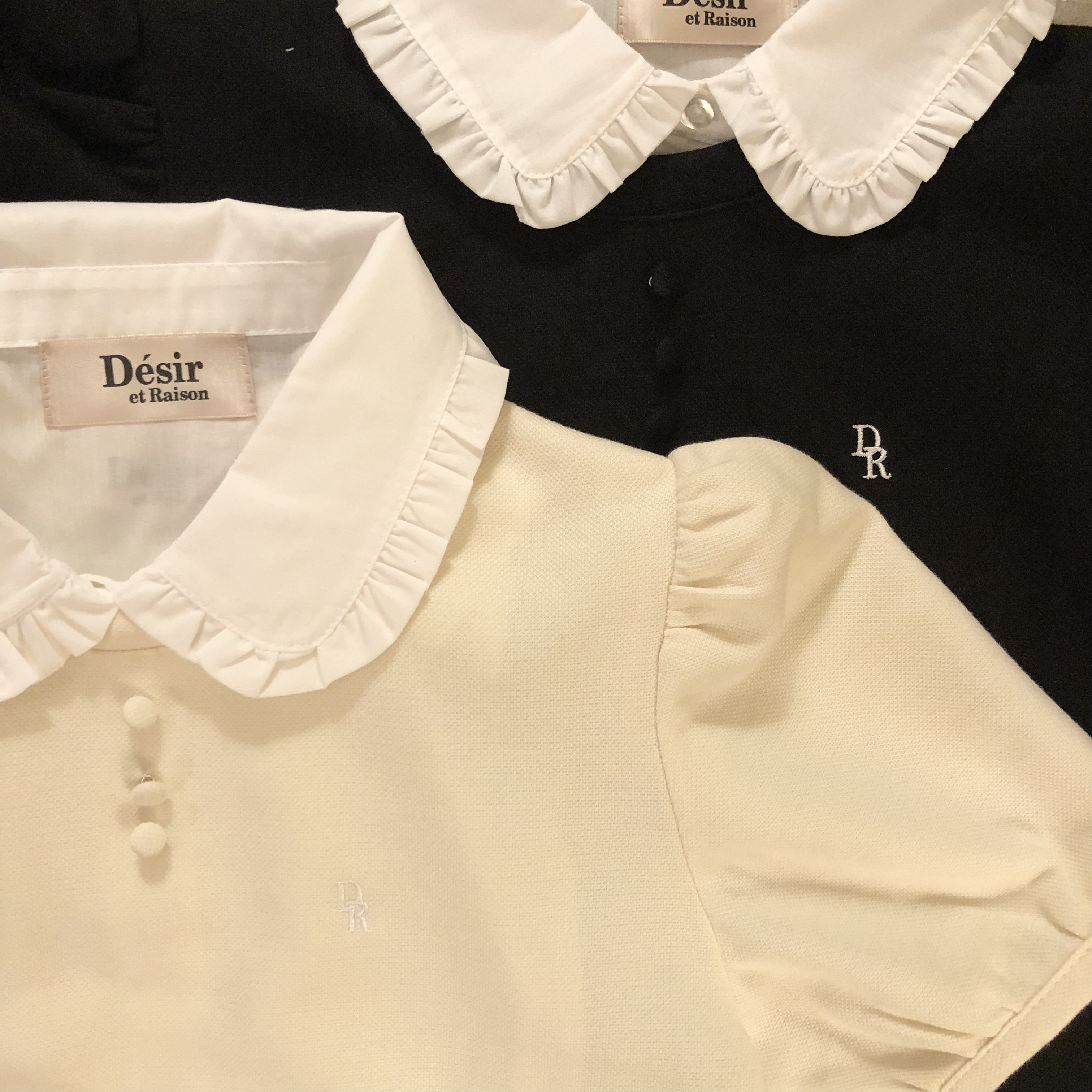 7/23【NEW】Désir original   2way logo puff tops