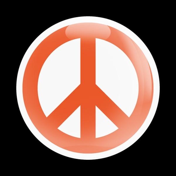 ゴーバッジ(ドーム)(CD0431 - SIGN PEACE ORANGE W) - 画像1