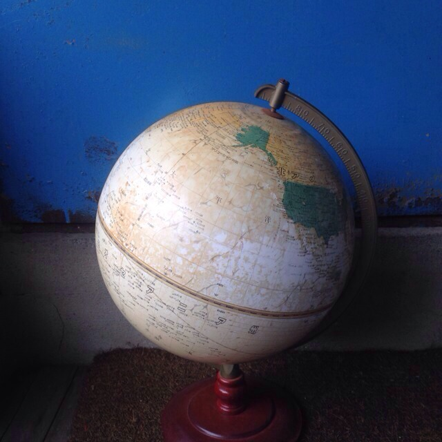 レトロ地球儀