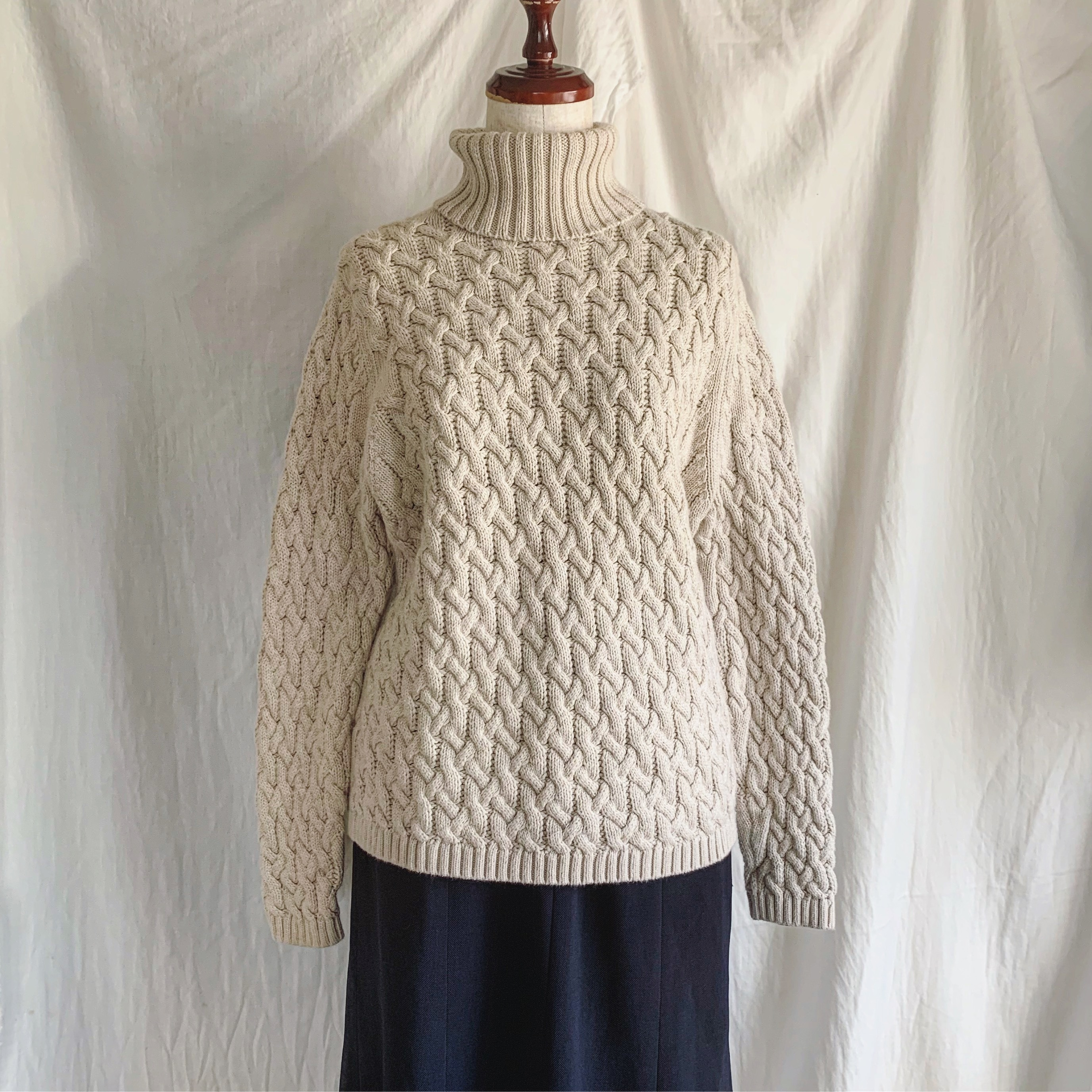 vintage cotton knit sweater
