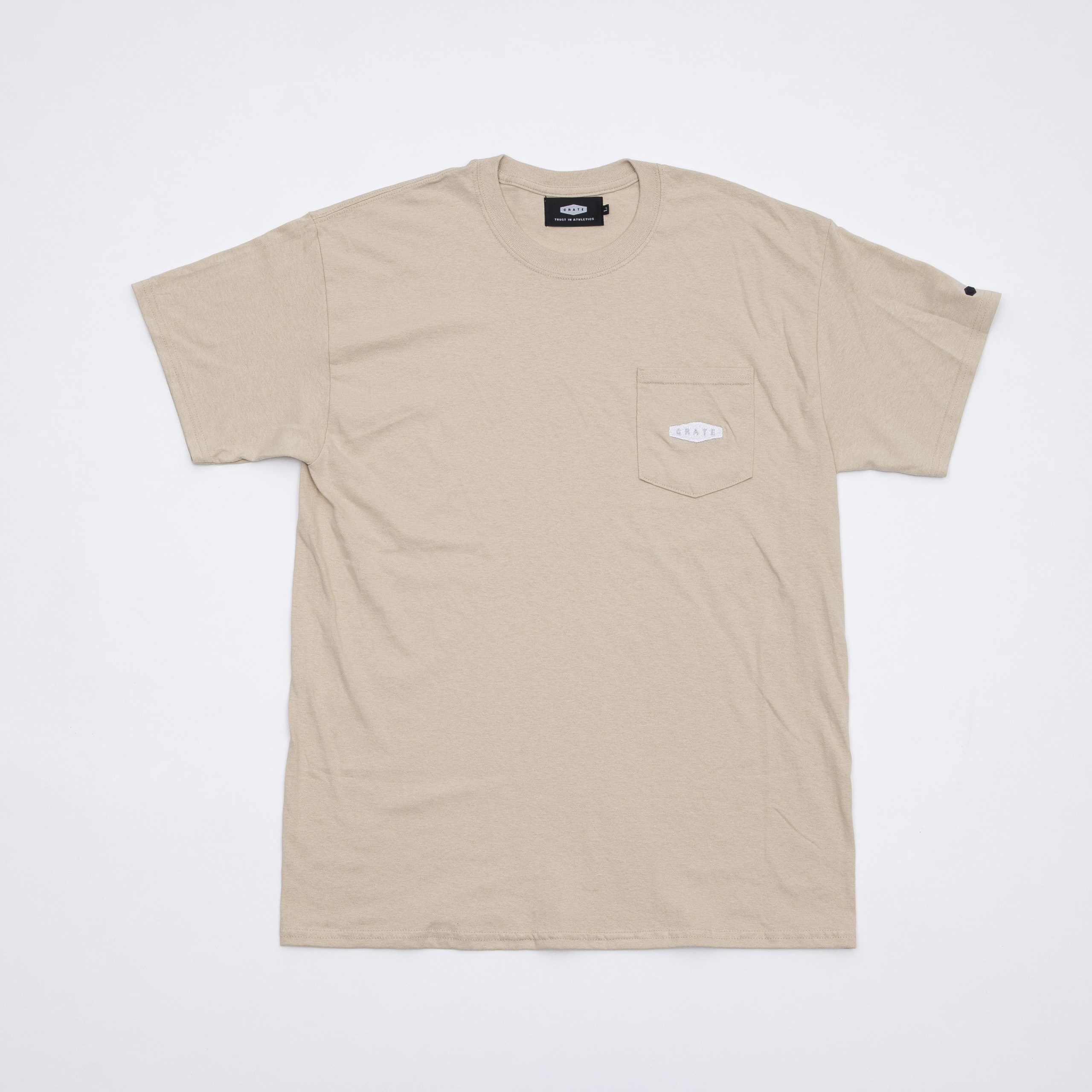 CRATE Pocket T-Shirts BEIGE