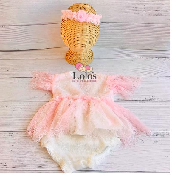 愛されピンクの女の子衣装set