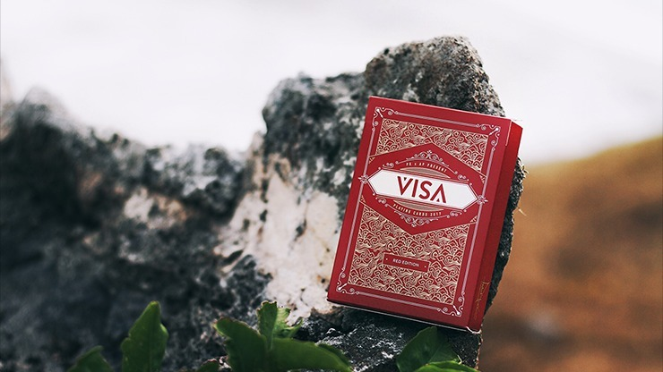 Visa Red Playing Cards by Patrick Kun and Alex Pandrea(訳あり)