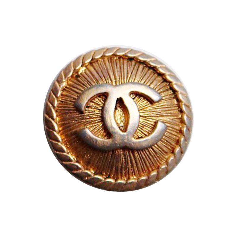 【VINTAGE CHANEL BUTTON】アンティーク ココマーク ゴールド ボタン 1.8cm