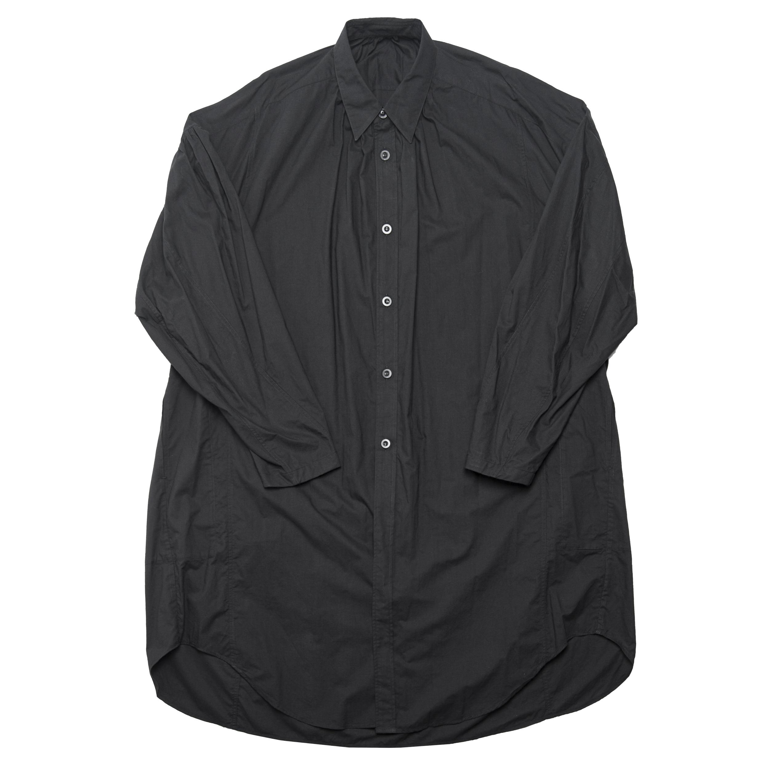 680SHM1-BLACK / ギャザーロングシャツ