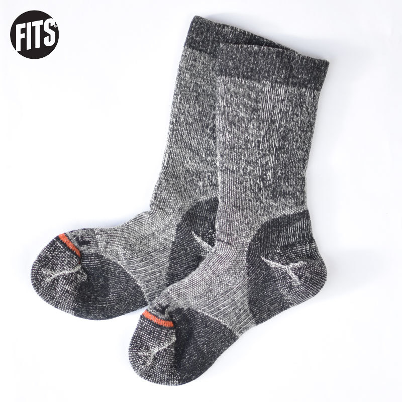 FITS ミディアム ラグド クルー(コール)フィッツ 靴下