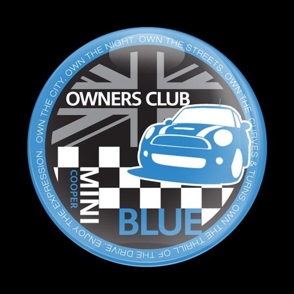 ゴーバッジ(ドーム)(CD0377 - MINI OWNERSCLUB BLUE) - 画像1