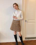 【KissMeLove】Wool tight skirt