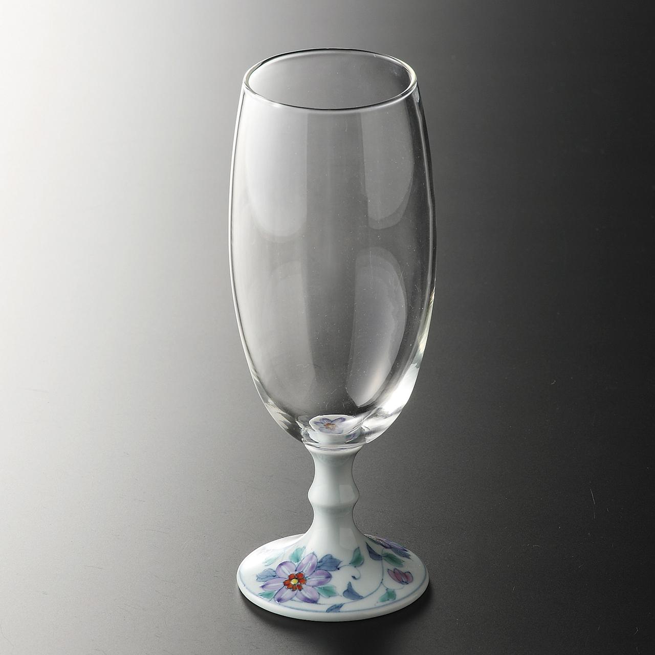 ビールグラス (鉄仙花) 20-404