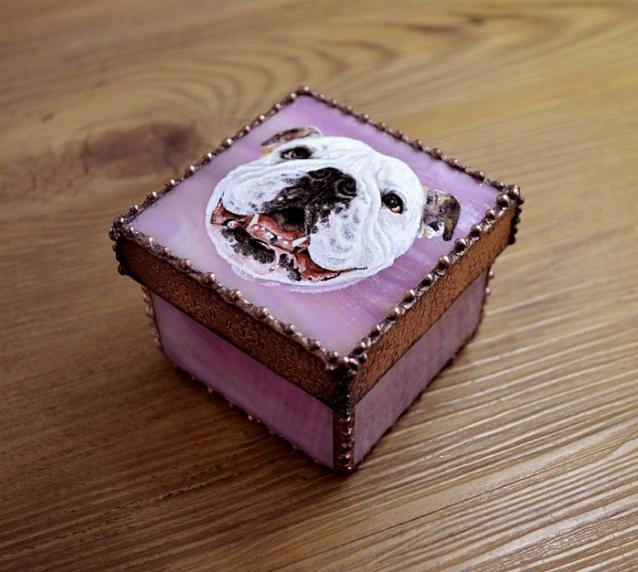 【受注制作】愛犬StainedGlassBox(Sサイズ)