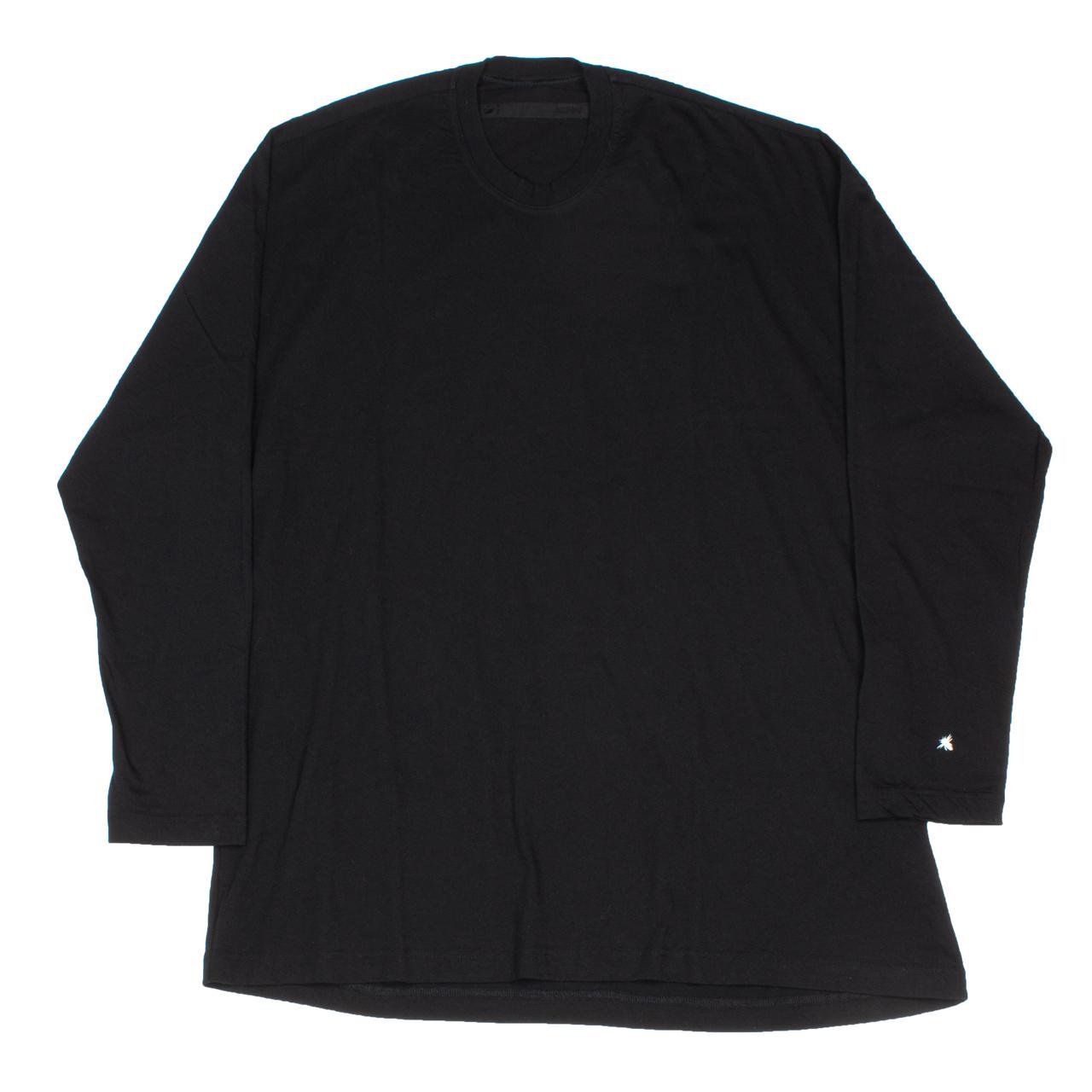 720CPM7-BLACK / バックプリント ロングスリーブ Tシャツ