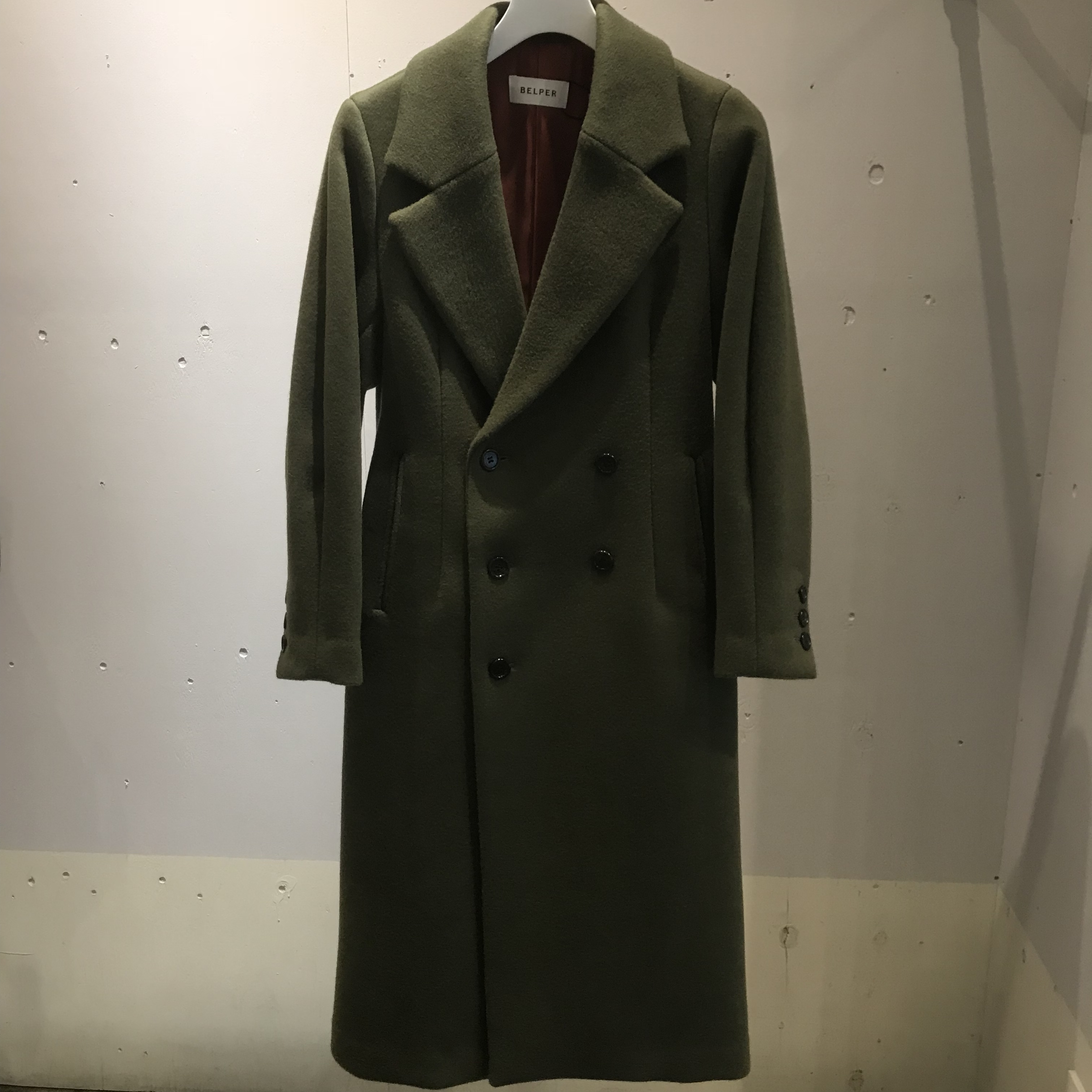 BELPER SHAPED WOOL COAT