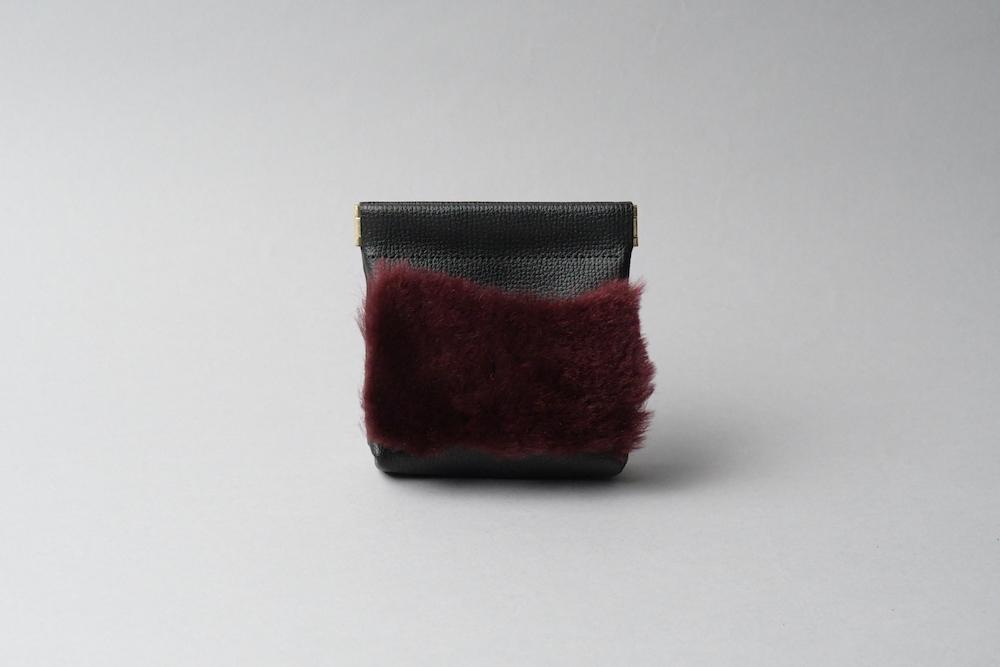 送料無料・ギフトラッピング(ギフト箱)無料○ ワンタッチ・コインケース ■ブラック・ワインファー■ - 画像1