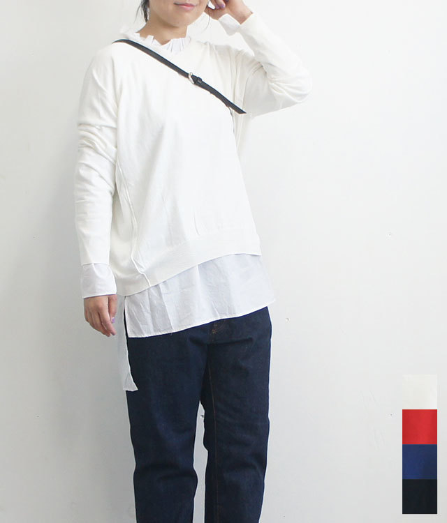prit プリット 2WAYワイドプルオーバーニット レディース ニット 長袖 無地 秋冬 通販 (品番909101)