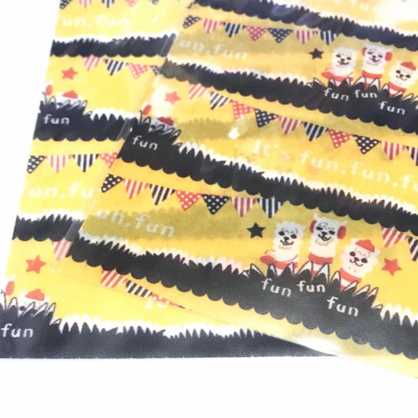 ラッピング袋 Sサイズ★あるぱかイズムのIt's fun,fun,fun*15WRwr04