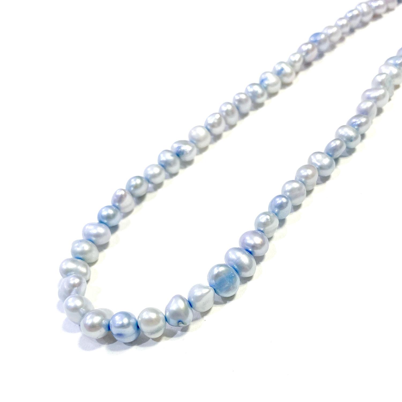 SPARKING Potato Pearl Necklace BLUE
