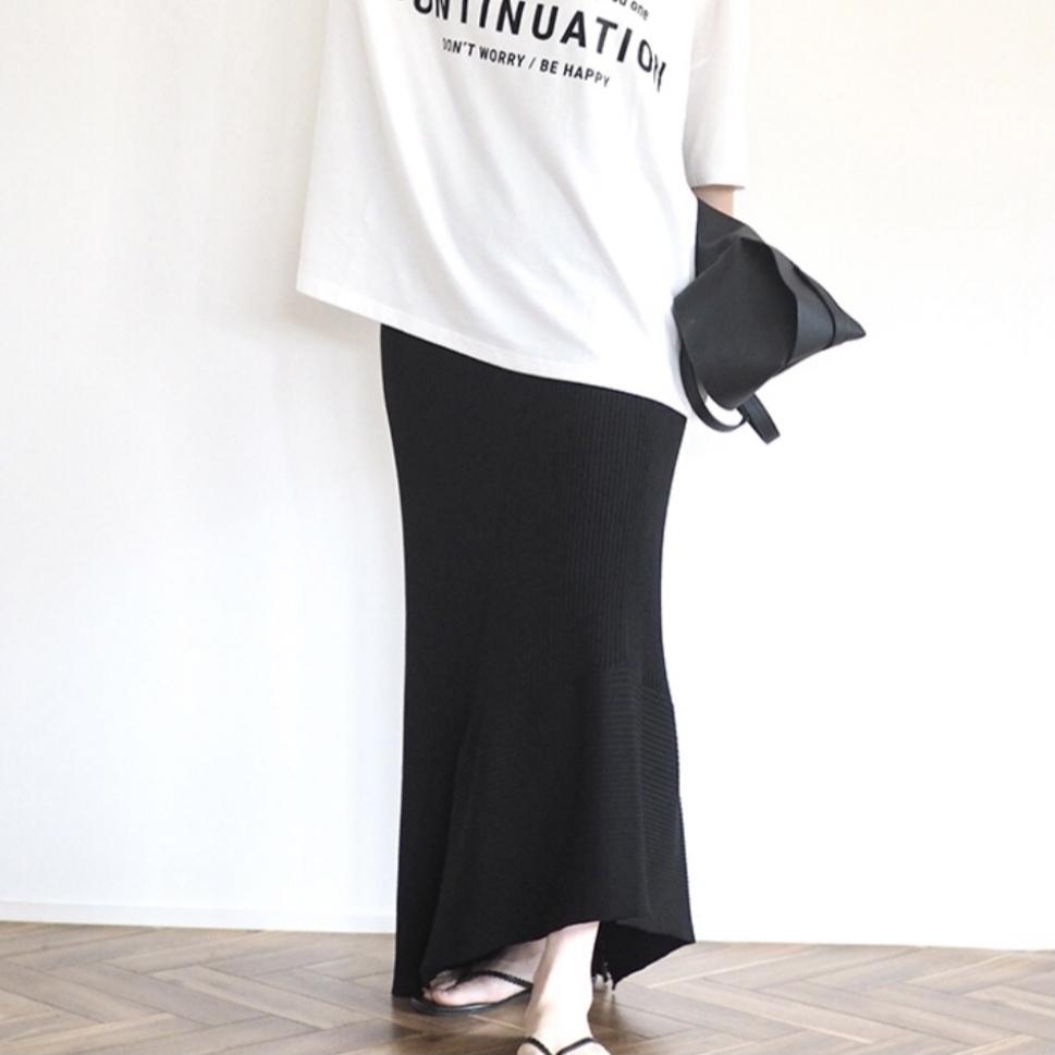 BLACKのみ5月下旬再販決定!【 ANIECA 】Knit skirt