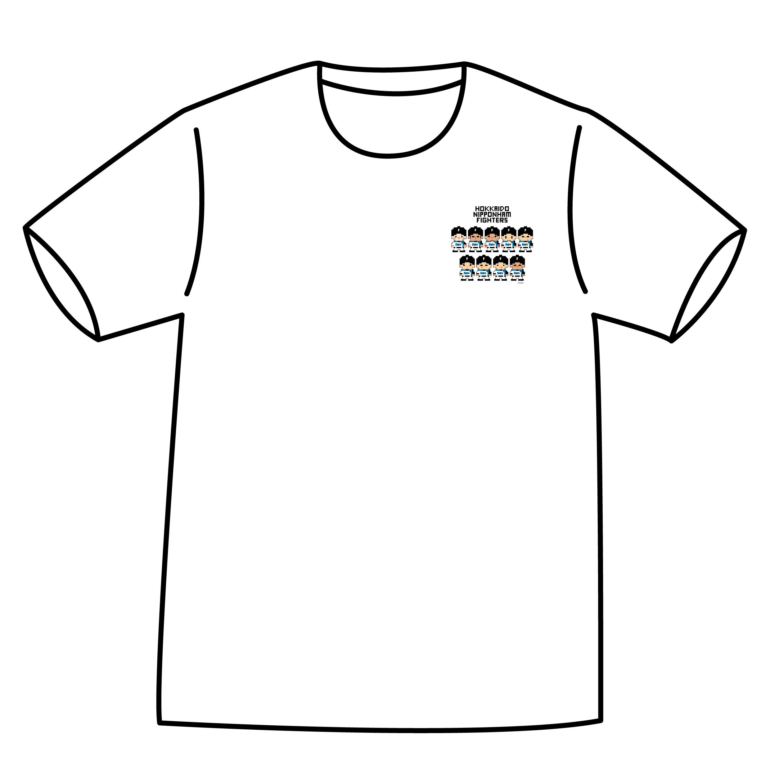 ドットファイターズ 「チーム」 Tシャツ ホワイト
