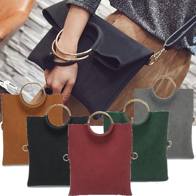 3wayバッグ5色◆リングハンドル&折り返し