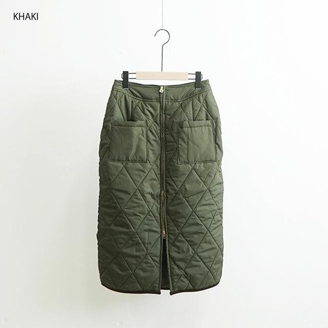 kha:ki カーキ QUILTING SKIRT キルティングスカート  (品番mil-19fsk51)