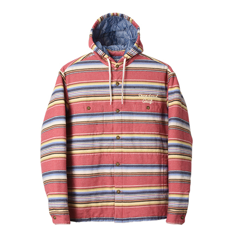 STANDARD CALIFORNIA #SD Southwest Flannel Quilted Hood Jacket Red