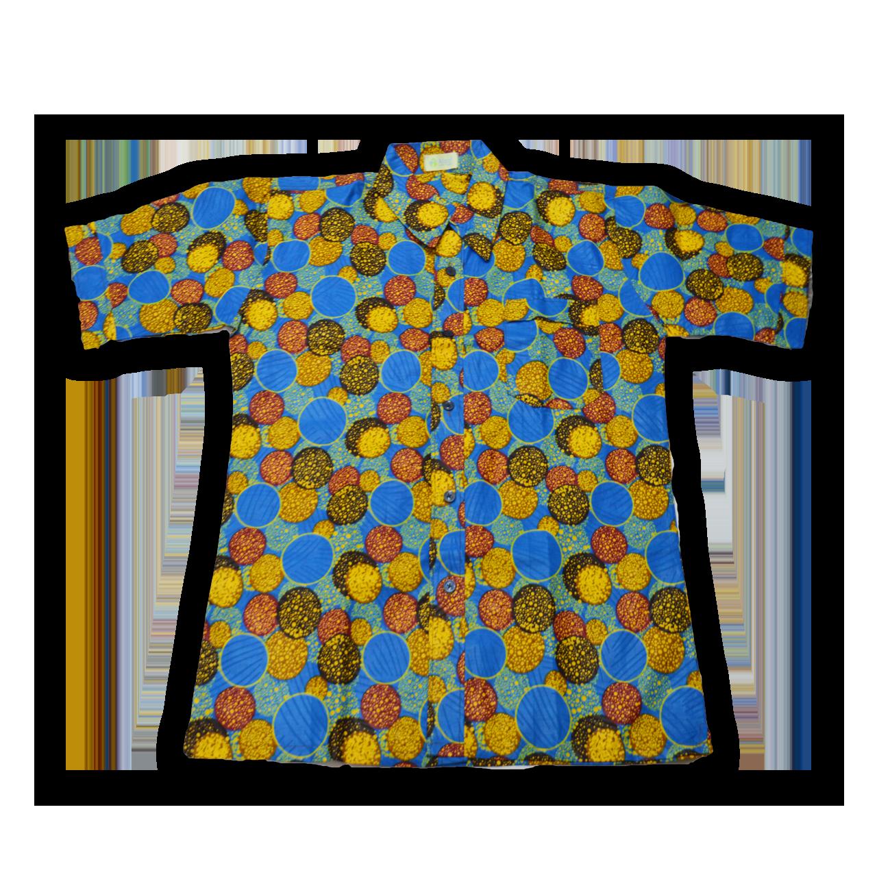 アフリカ柄 シャツ(XL)A