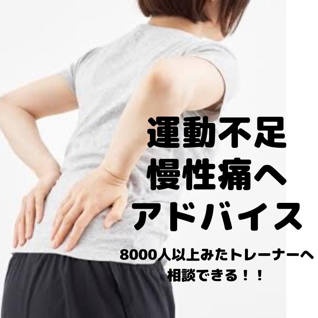 運動不足・慢性痛へ8000人みたトレーナーがアドバイス!