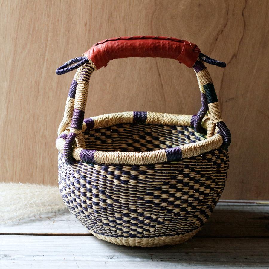 ガーナの手編み ボルガバスケット / 小 C