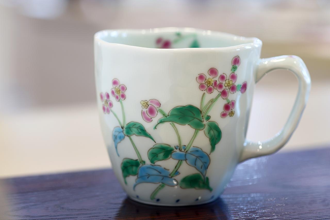 藍水 ルリハコベ マグカップ(大) うつわ藍水 波佐見焼
