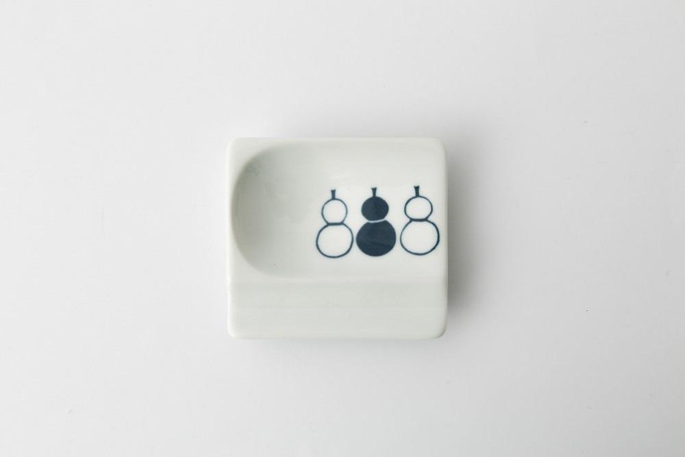 波佐見焼 重宝皿 ひょうたん(青) 【アイユー】