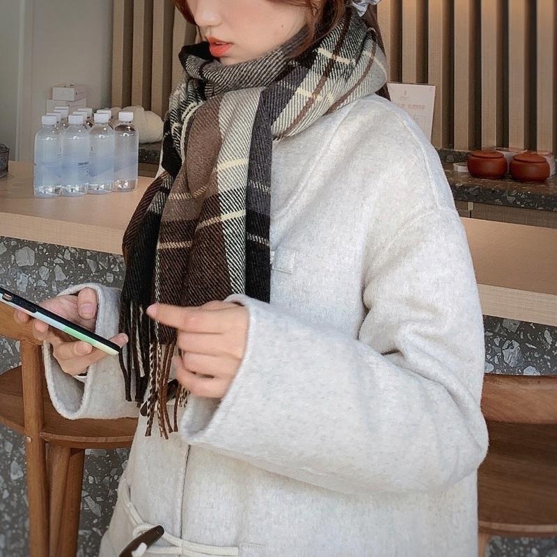 〈カフェシリーズ〉コーヒーが飲みたくなるマフラー【coffee muffler】