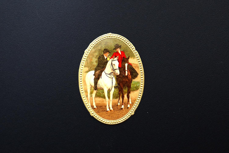 【ドイツ】乗馬の二人のクロモス /  1980-1920年代