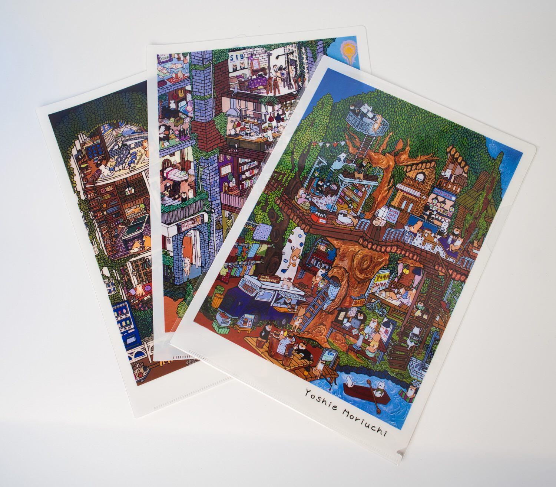 【クリアファイル3枚セット】SHIBA BASE等の柴犬とアートなクリアファイルのセット販売!