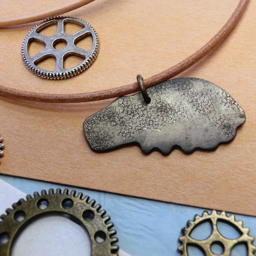 【カバ】a 真鍮 ペンダントトップ ※革紐やチェーンは付属しません。#1339ロ