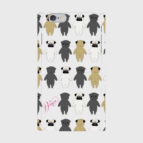 iPhone6Plus/6sPlusスマホケース  パグちゃんいっぱいデザイン!ツヤ有り(コート)
