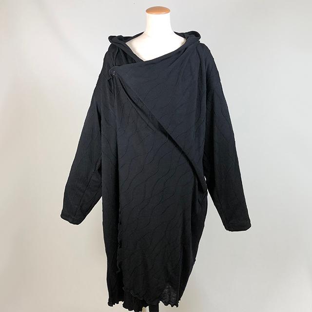 縄編み柄ロングカーディガン/KUD23-J502