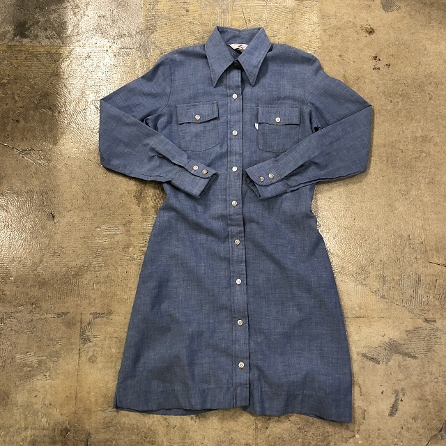 70's LEVI'S CHAMBRAY ONEPIECE #TP-253