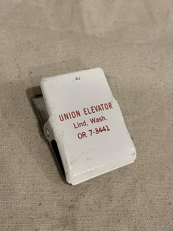 """ADVERTISING MEMO CLIP """" UNION ELEVATOR """""""