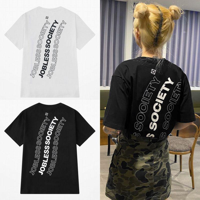 ユニセックス Tシャツ 半袖 メンズ レディース ラウンドネック シンプル 英字 バックプリント オーバーサイズ 大きいサイズ ルーズ ストリート