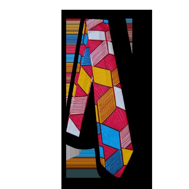 アフリカ柄ネクタイ(Necktie ピンク)