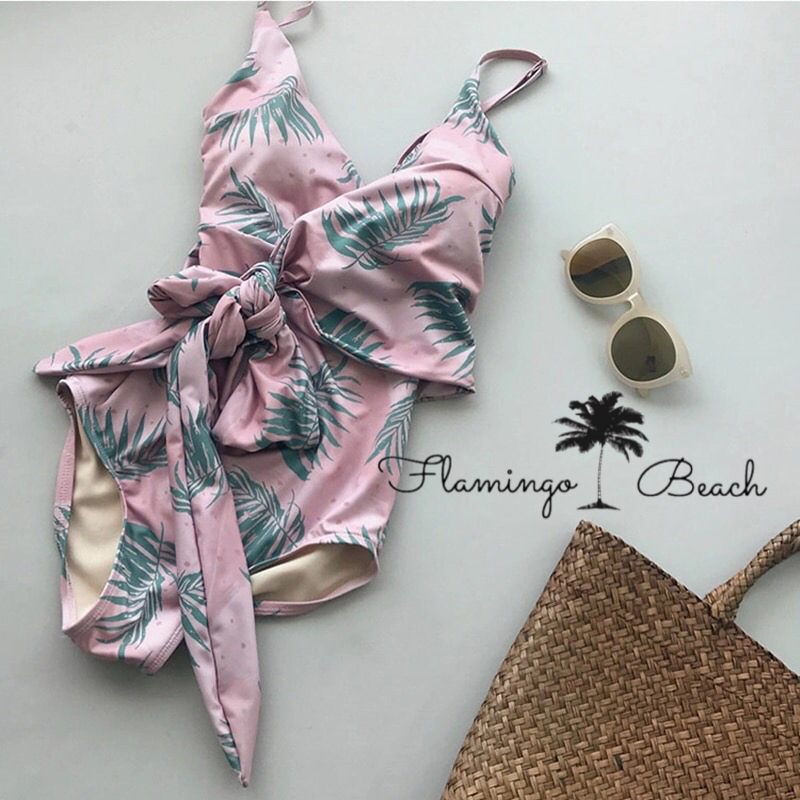 【FlamingoBeach】leaf monokini