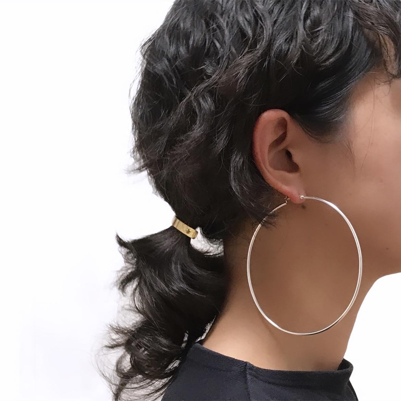 Silver925 Hoop Earrings L