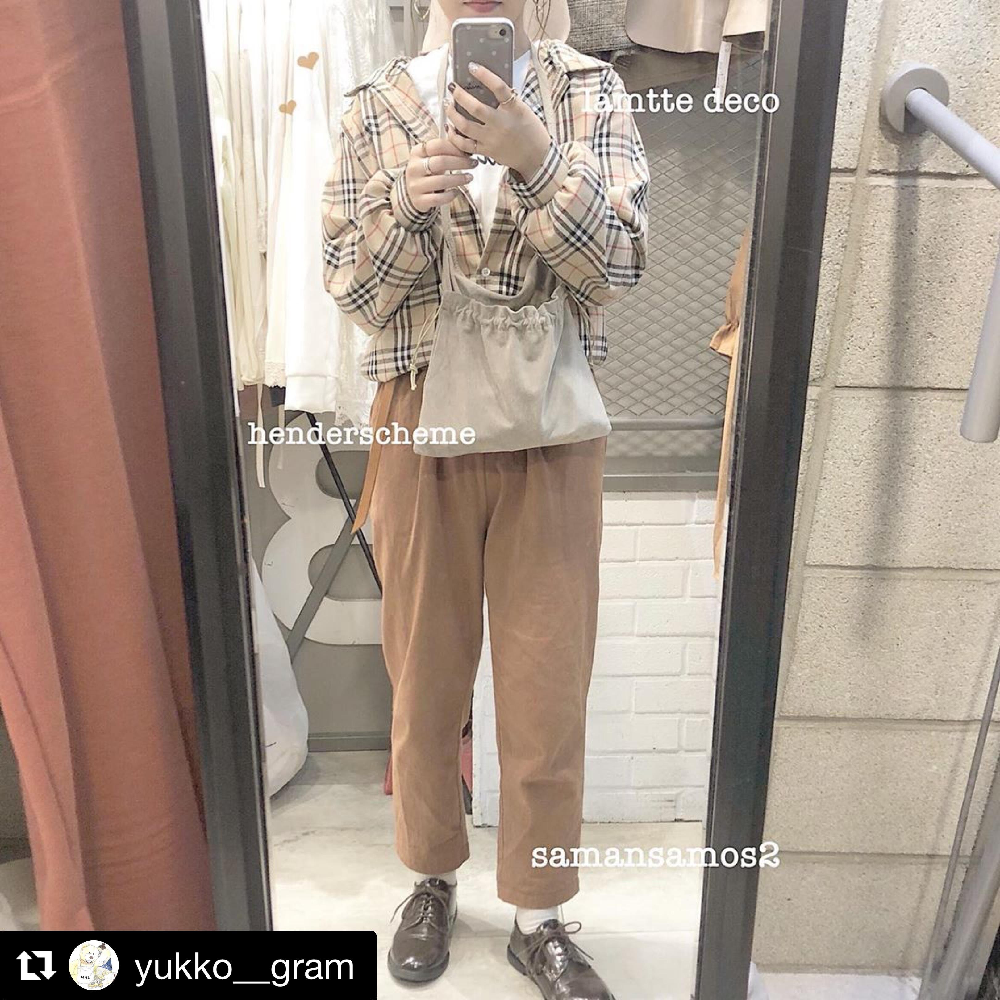 【送料無料】 ゆるカジチェック♡ 秋冬 レトロ カジュアル チェック シャツ ボリューム袖