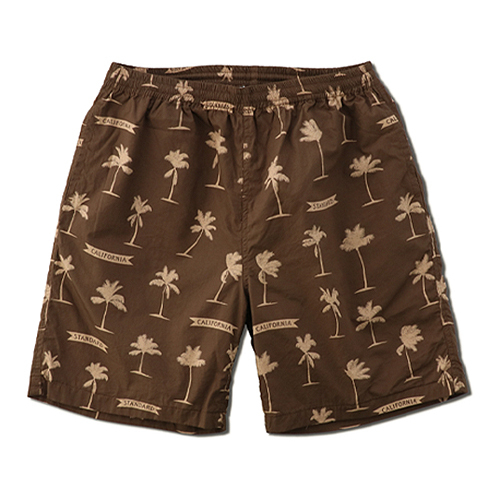STANDARD CALIFORNIA #SD Palm Tree Shorts Fabric Designed by Jeff Canham Brown